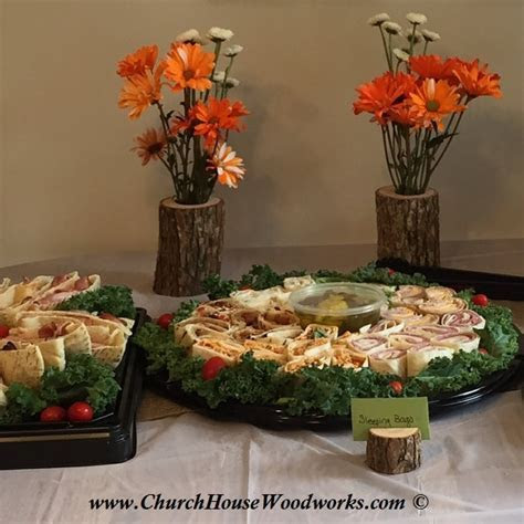 Rustic Snack and Buffet Table Setting Arrangements (using