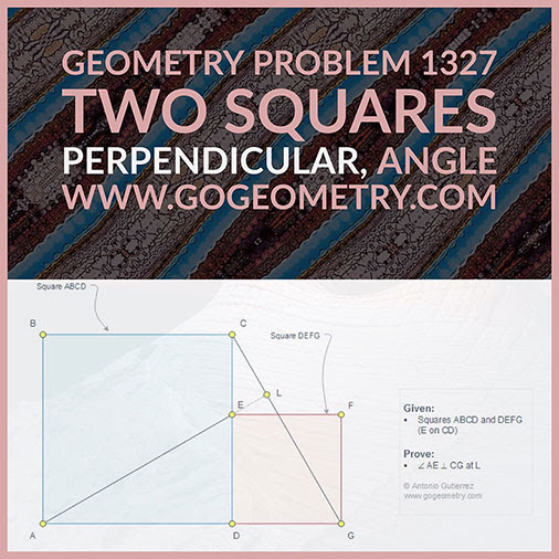 Geometric Art Typography of Geometry Problem 1327: Two Squares Side by Side, Perpendicular, 90 Degrees, Angle, iPad Apps, iPad Apps.