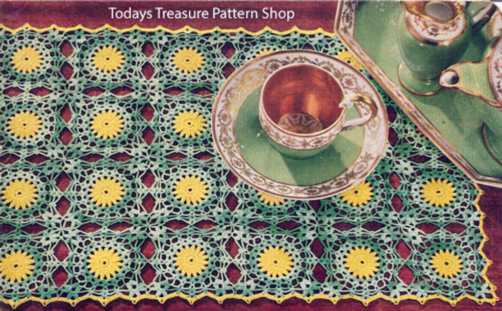 Vintage Flower Crochet Medallion Pattern