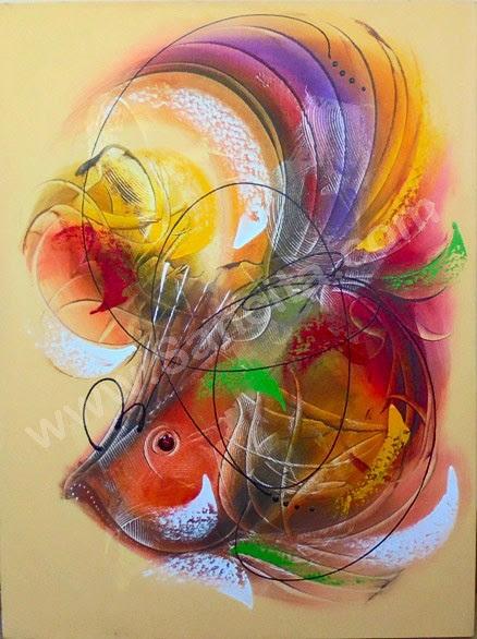 Wow 17+ Gambar Abstrak Ikan Koi - Richa Gambar