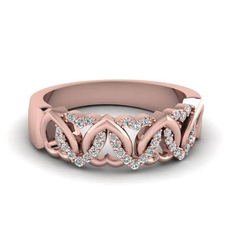 15 Collection of Rose Gold Womens Wedding Bands