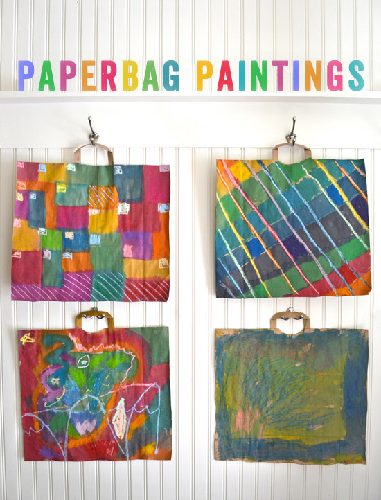 DIY paperbag paintings | smallforbig.com