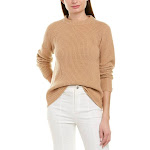 Vince Womens Ribbed Cashmere Pullover