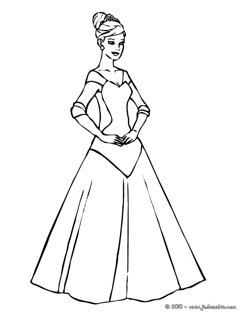 Princesse  colorier en ligne