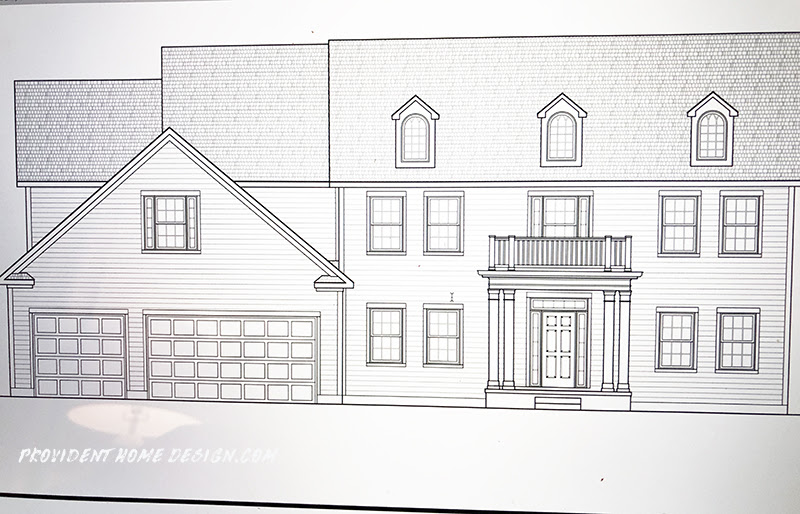 The Exterior Drawing of the House we are Building  Provident Home Design