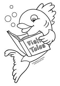 dulemba: Coloring Page Tuesday - Fish Tales A Coloring Page