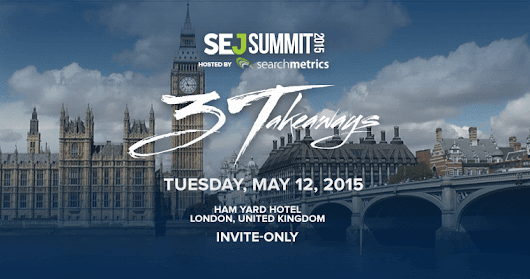 Save the Date for #SEJSummit London: May 12, 2015