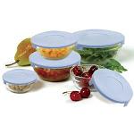 Norpro Glass Bowls Set With Lids 10 Piece - 1018