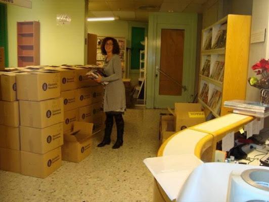 El material, empaquetat ja per al trasllat