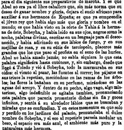 Leyenda de La Peña del Moro publicada en La Amérca por Eugenio de Olavarria y Huarte. Página 8