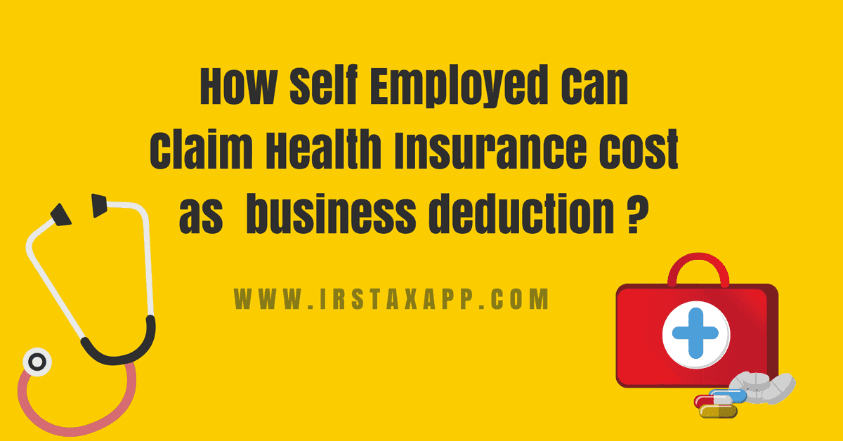 Self Employed Health Insurance Deduction Simplified ...