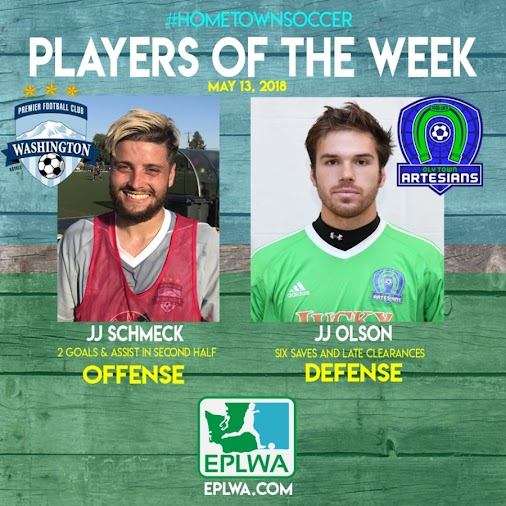 The Evergreen Premier Leaguetoday announces the honorees of the second week of play with the#HometownSoccer...