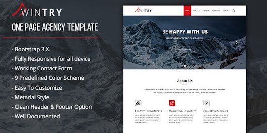 Wintry - Bootstrap Agency HTML5 Template