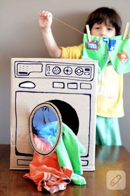 Karton Koliden çocuklara çamaşır Makinesi 10marifetorg