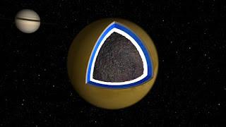 Ilustración de Océano bajo la corteza de Titán