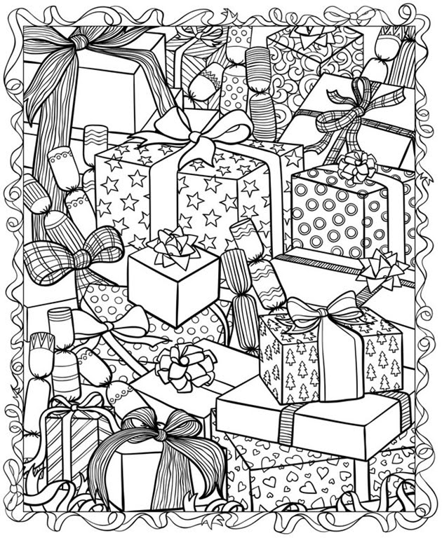 21 Christmas Printable Coloring Pages | Everything Etsy ...