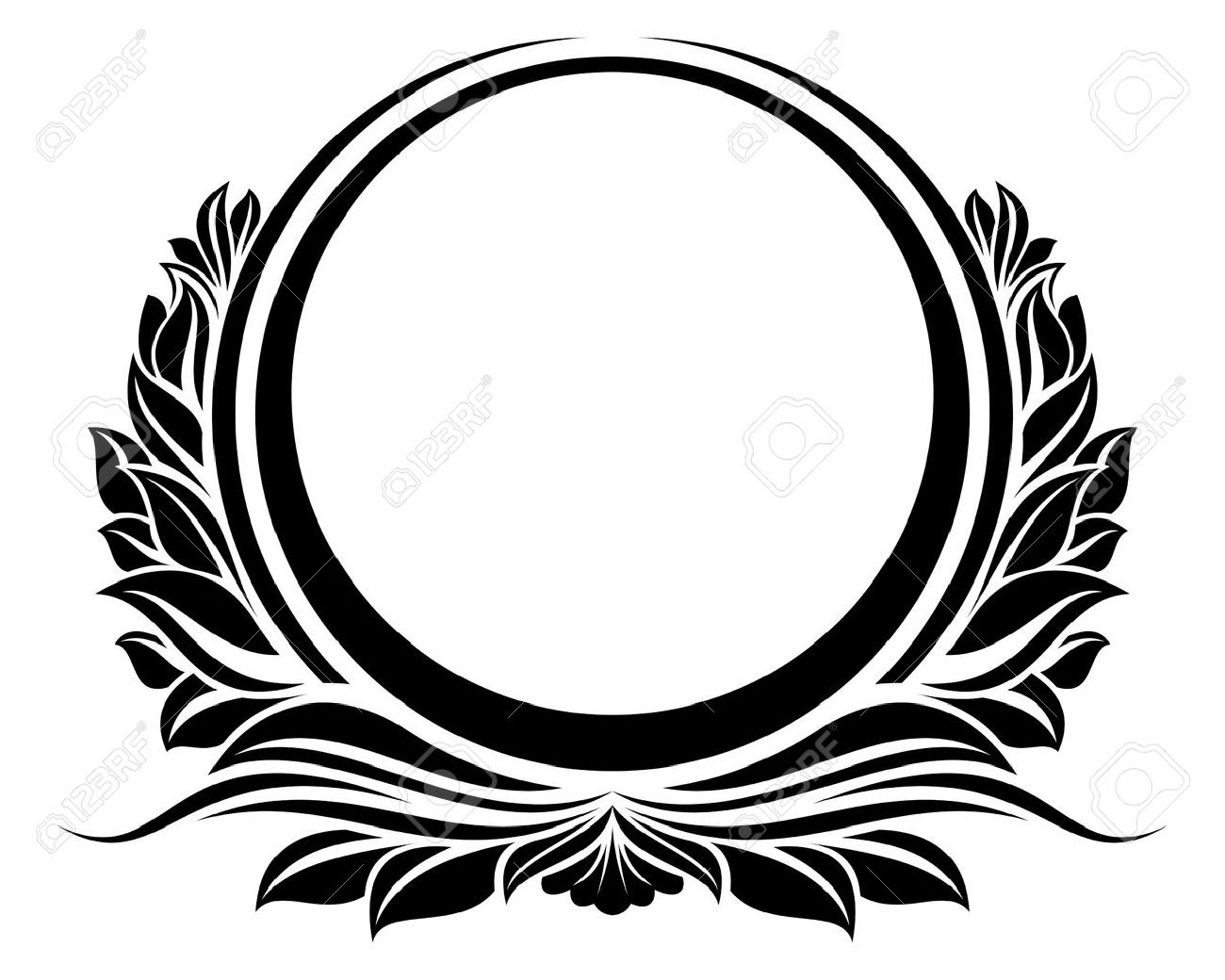Black Circle Frame Royalty Free Cliparts, Vectors, And Stock ...