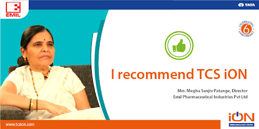 Emil Pharmaceutical Industries Pvt. Ltd. Recommends TCS iON