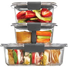 Rubbermaid Brilliance Food Storage Container, Sandwich and Snack Lunch Kit, Clea