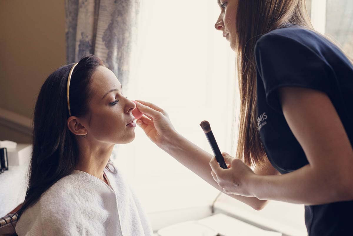 Bridal Makeup at Hintlesham Hall - www.helloromance.co.uk