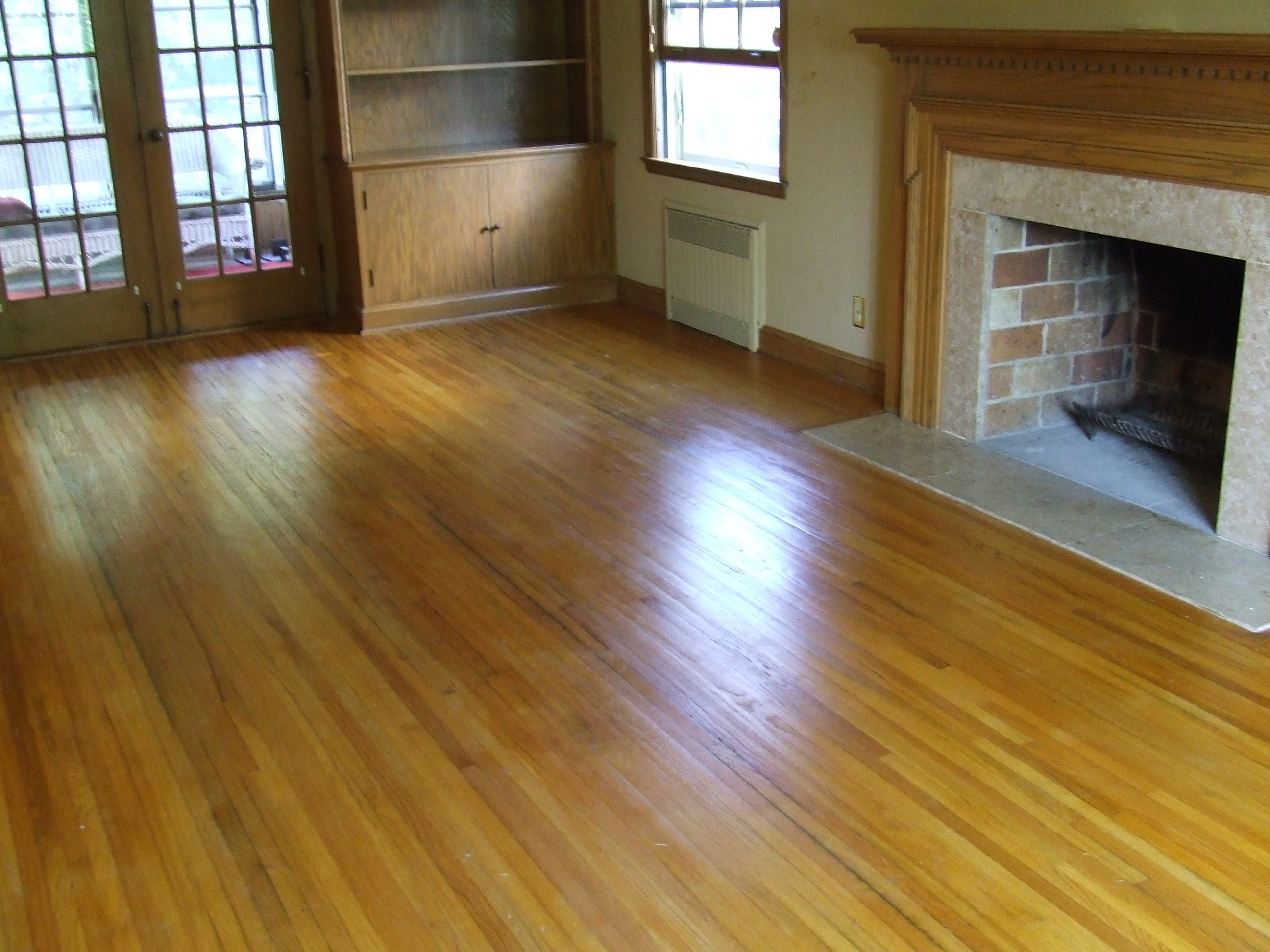 Hardwood Floors Before and After