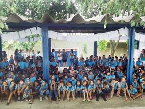 Os mais de 700 alunos realizaram durante, três meses, diversas oficinas. (Foto: Assessora do Estado de Minas Gerais / Berenice Martins)