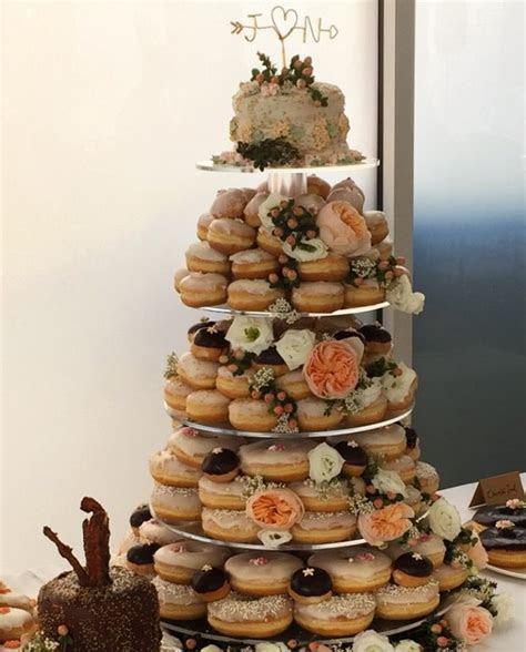 Donut wedding cake from firecakes in Chicago   I Do  in