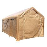 Aleko CP1020BE-UNB 10 x 20 ft. Heavy Duty Outdoor Gazebo Carport Canopy Tent with Sidewalls Beige