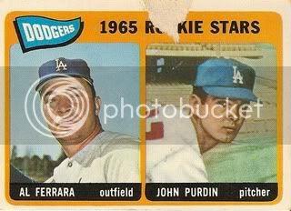 #331 Dodgers Rookies: Al Ferrara and John Purdin