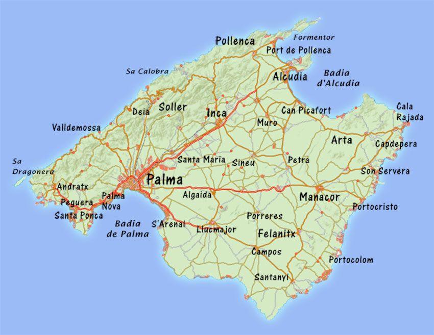 Mallorca Karte Umriss.Fidedivine 25 Elegant Karte Mallorca