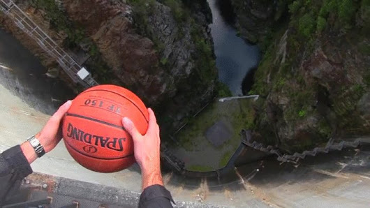 The Magnus Effect - When a small amount of spin is added to a dropped object, the object moves forward (Science explanation in comments)