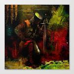 The Prayer Of The Knight Templar Canvas Print by Joe Ganech - LARGE