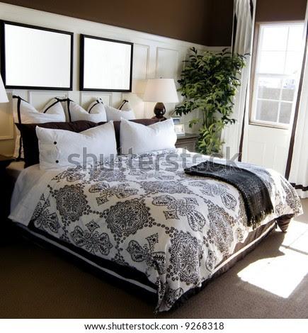 Beautiful Showcase Bedroom Interior Stock Photo 9268318