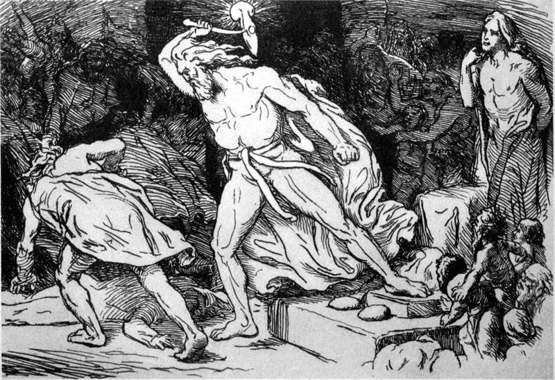 Thor Destroys the Giant Thrym