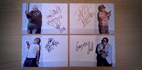GTA:1985 Signed 6x4's. Because.