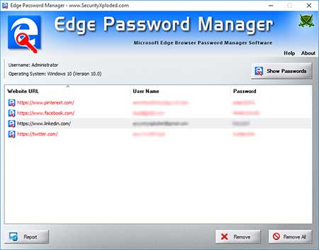Edge Password Manager : free tool to help you recover or remove saved passwords from Microsoft Edge (spartan) browser |
