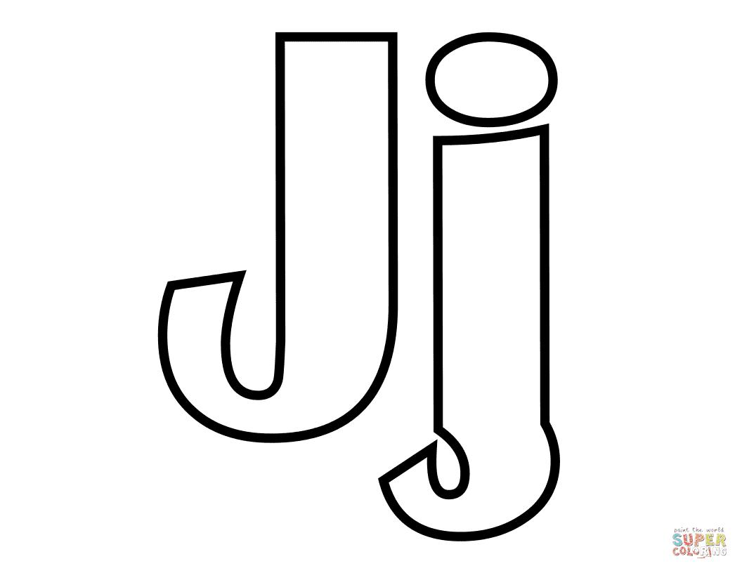 Dibujo De Letra J Para Colorear Dibujos Para Colorear Imprimir Gratis
