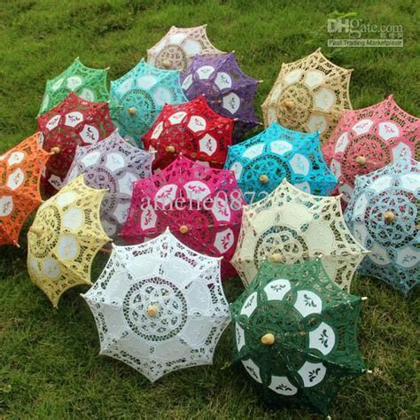 European Small Decorative Lace Parasol Umbrellas Doll's