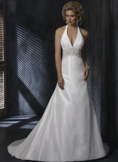 VNeck Strapless White Wedding Dress H26