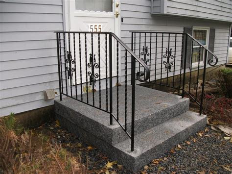 simple outdoor stair railing  home design install