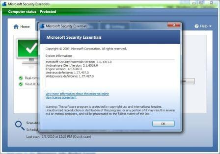 settings for microsoft windows: Microsoft Security Essentials (MSE) Setup Installer Direct ...