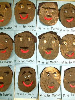 Martin Luther King, Jr. Portraits - Re-pinned by @PediaStaff – Please Visit http://ht.ly/63sNt for all our pediatric therapy pins