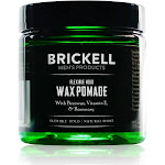 Brickell Flexible Hold Wax Pomade for Men 2 oz