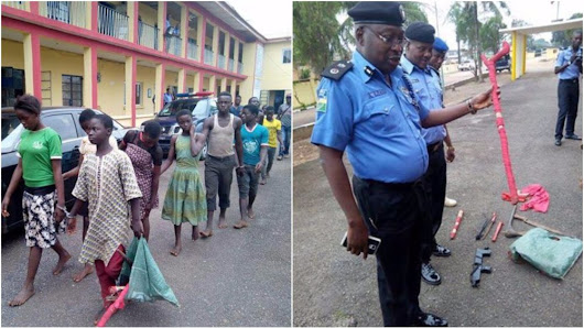 13 Underage Suspected Cultists Arrested During Cult Initiation (Photos)