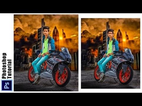 THE BOY ON  KTM PHOTOSHOP MANIPUALTION | PHOTOSHOP TUTORIAL
