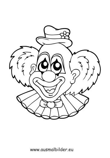 ausmalbild lustiger clown - Ausmalbilder