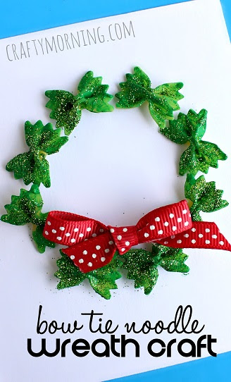 bow-tie-noodle-wreath-christmas-craft-for-kids-