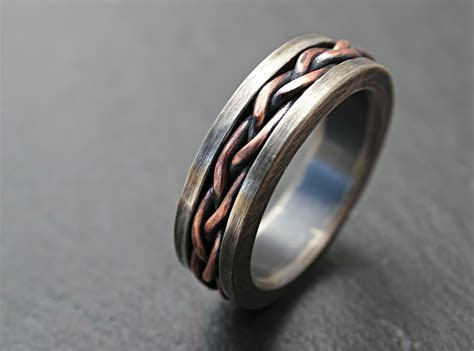 Buy a Hand Crafted Viking Wedding Band, Braided Ring Two