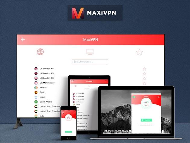 MaxiVPN Premium Plan: 2-Yr Subscription for $49