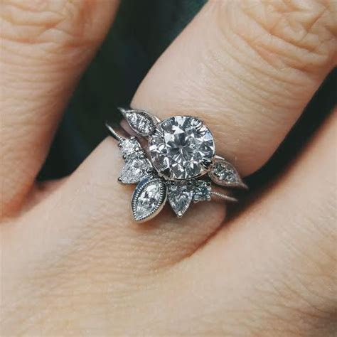 My custom engagement ring, and wedding band together
